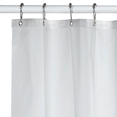 soft sensations extra long pure eva shower curtain liner in frost