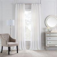 Cambria® Malta Euro Pleat 95-Inch Back Tab Window Curtain Panel in White