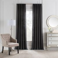 Cambria® Malta Euro Pleat 108-Inch Back Tab Window Curtain Panel in Charcoal