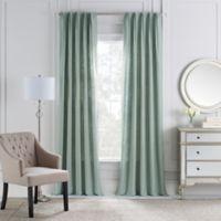 Cambria® Malta Euro Pleat 84-Inch Back Tab Window Curtain Panel in Seaside