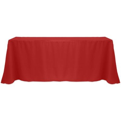 Good Basic Polyester 60 Inch X 90 Inch Oblong Tablecloth In Holiday Red