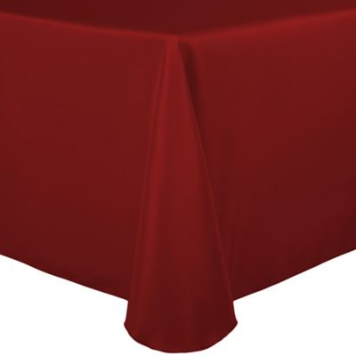 Awesome Basic Polyester 90 Inch X 132 Inch Oblong Tablecloth In Cherry Red