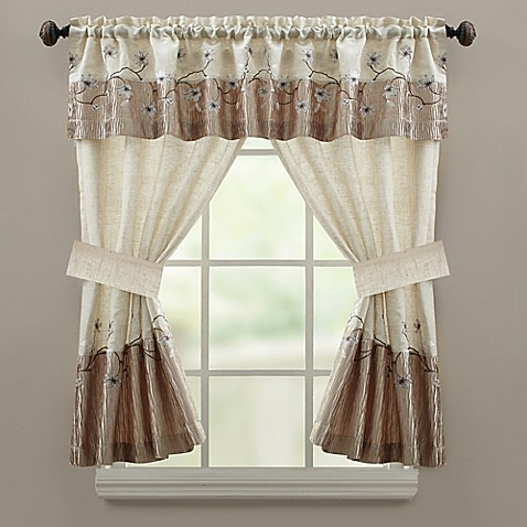 Croscill 174 Magnolia Bath Window Curtain Panel And Valance