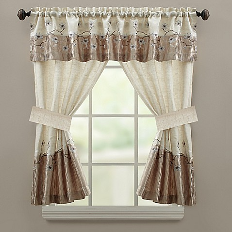 Croscill Magnolia Bath Window Curtain Valance Bed Bath