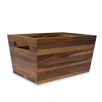 Buy Wood Storage Bin from Bed Bath Beyond