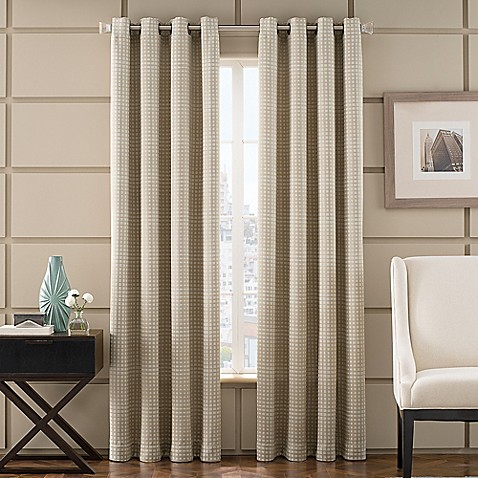 Newton room darkening grommet top window curtain panel bed bath beyond for Bed bath and beyond curtains for living room
