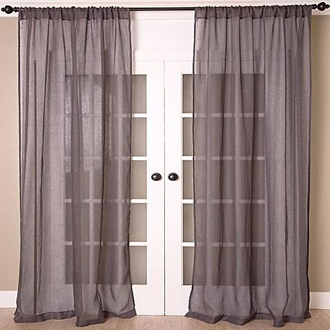 Aura Solid Sheer Window Curtain Panel Bed Bath Beyond