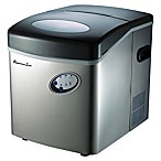 33 lb. Portable Ice Maker in Stainless Silver