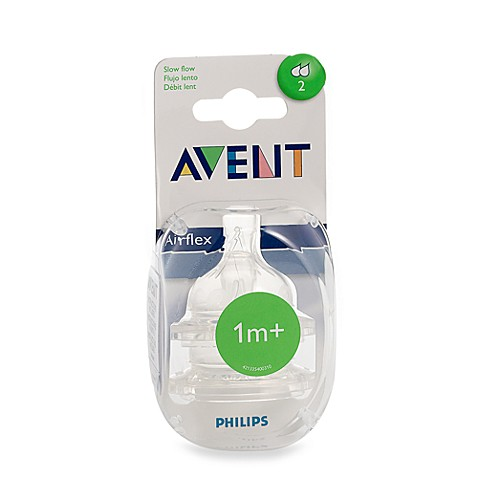 Philips Avent 2-Pack Slow Flow Bottle Nipples