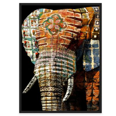 Attractive Framed Giclée Tribal Elephant 1 Canvas Wall Art