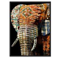 Framed Giclée Tribal Elephant 1 Canvas Wall Art