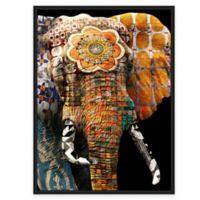Framed Giclée Tribal Elephant 2 Canvas Wall Art