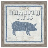 Framed Giclée Pork Quality Cuts Wall Art