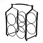 Mesa Forge Flatwire 4-Bottle Wine Rack in Antique Black