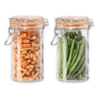 Oggi™ 2-Piece Glass Canisters with Clamp Lid Set