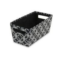 b+in® Fabric Quarter Storage Bin in Black