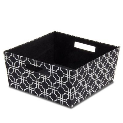 B+in® Fabric Half Storage Bin In Black