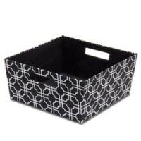 b+in® Fabric Half Storage Bin in Black