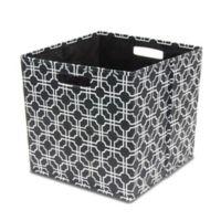 B In Fabric Full Storage Bin Black
