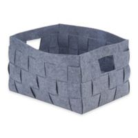 Honey-Can-Do Large Woven Felt Bin in Grey
