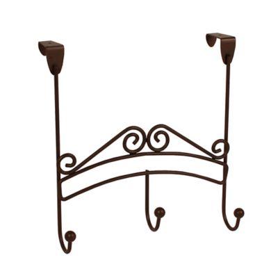 Spectrum™ Yorkshire Over The Door 3 Hook Rack In Bronze