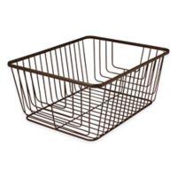 Spectrum® Ashley Large Storage Basket in Bronze