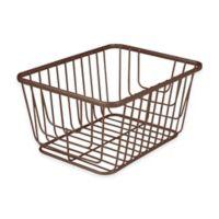 Spectrum® Ashley Small Storage Basket in Bronze