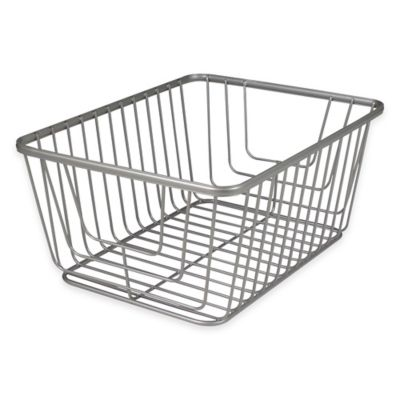 Spectrum® Ashley Medium Storage Basket In Satin Nickel