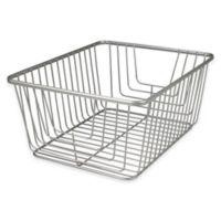 Spectrum® Ashley Large Storage Basket in Satin Nickel