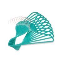 Joy Mangano Huggable Hangers® 10-Pack Suit Hangers in Teal