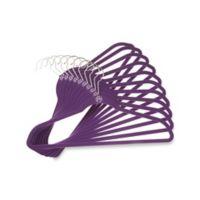 Joy Mangano Huggable Hangers® 10-Pack Suit Hangers in Purple