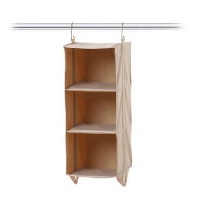 sturdy hanging closet organizer. Interesting Closet ClosetMAX SYSTEM 3Shelf Closet Organizer In Taupe On Sturdy Hanging N