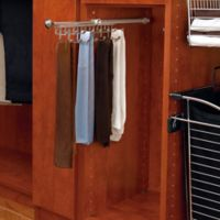 Rev-A-Shelf® 13-Hook Tie and Scarf Rack in Satin Nickel