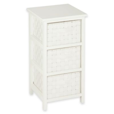 Honey Can Do® 3 Drawer Woven Strap Storage Chest In White
