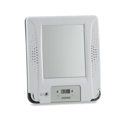 amfm shower radio with fog free mirror and digital clock