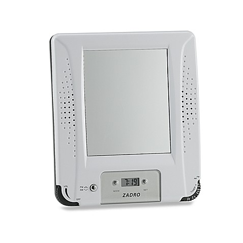 AM/FM Shower Radio With Fog Free Mirror And Digital Clock
