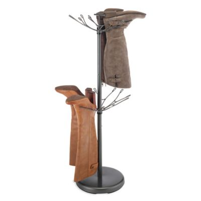 Steel Revolving Boot Rack In Grey