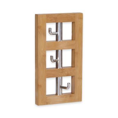 Household Essentials® 3 Hook Vertical Wall Coat Rack In Natural