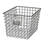 Spectrum® Small Metal Wire Storage Basket in Satin Nickel