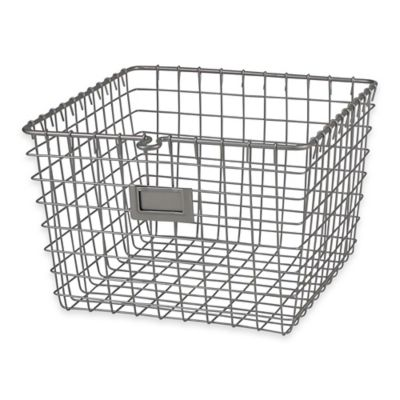 Great Spectrum® Medium Metal Wire Storage Basket In Satin Nickel