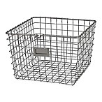 Spectrum® Medium Metal Wire Storage Basket in Satin Nickel