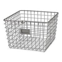Spectrum® Medium Metal Wire Storage Basket in Satin Nickel