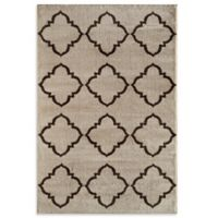 Rugs America Hudson Lattice 2-Foot x 2-Foot 11-Inch Accent Rug in Cream