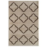 Rugs America Hudson Lattice 5-Foot 3-Inch x 7-Foot 10-Inch Area Rug in Cream
