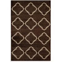 Rugs America Hudson Lattice 5-Foot 3-Inch x 7-Foot 10-Inch Area Rug in Brown