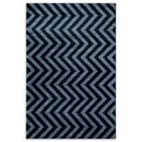 Rugs America Hudson Linen 5-Foot 3-Inch x 7-Foot 10-Inch Area Rug in Blue