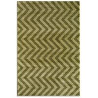 Rugs America Hudson Linen 5-Foot 3-Inch x 7-Foot 10-Inch Area Rug in Green