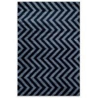 Rugs America Hudson Linen 7-Foot 10-Inch x 10-Foot 10-Inch Area Rug in Blue