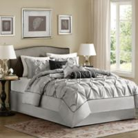 Madison Park Laurel 7-Piece California King Comforter Set in Grey