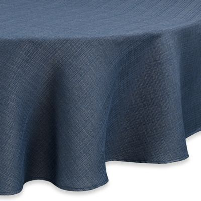 buy blue round tablecloth from bed bath & beyond